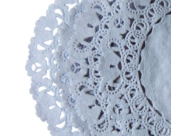 """SLATE GRAY Paper Lace Doilies 