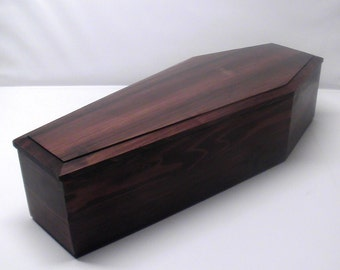 20-inch Red Wood Virginia City Style Coffin