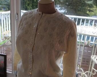 Vintage Cardigan Beaded Romantic Fairytale