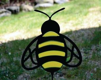 Bumblebee Metal Art Yard Stake