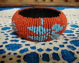 Orange Southwestern Style Bangle