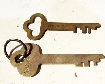 Vintage Saftey Deposit Key Set of Two