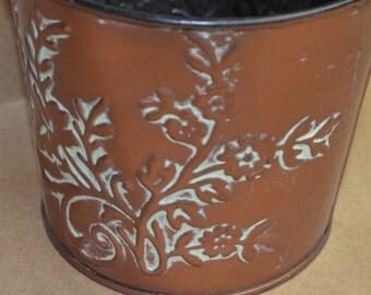 Bronze colored Metal Bucket