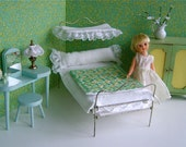 Vintage, Halftester CANOPY BEDROOM for Blythe, Betsy McCall, Ginny, Kripplebush Kids, Madame Alexander, Sindy, Toni all 711 dolls