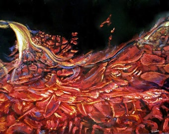 Original oil painting - Phoenix