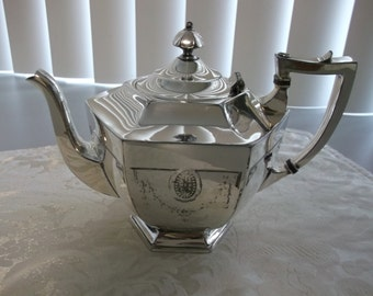 Holmes and Edwards Silver Plate Tea Pot