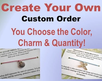Wish Bracelets - Bulk Order - Birthday Party Favors - Baby Shower Favors - Wedding Favors - Fundraisers - Sports Team Gifts - Custom Order