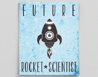 Future Scientist Poster Nursery Rocket Scientist Baby Science Nursery Decor Rocket Science Space Gifts for Babies Space Nursery Ideas Nerdy