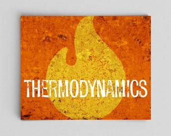 Science Physics Print Thermodynamics Science Gift Teacher Gifts for Teachers Physicist Gifts College Graduation Gifts Nerdy Gift Ideas Him