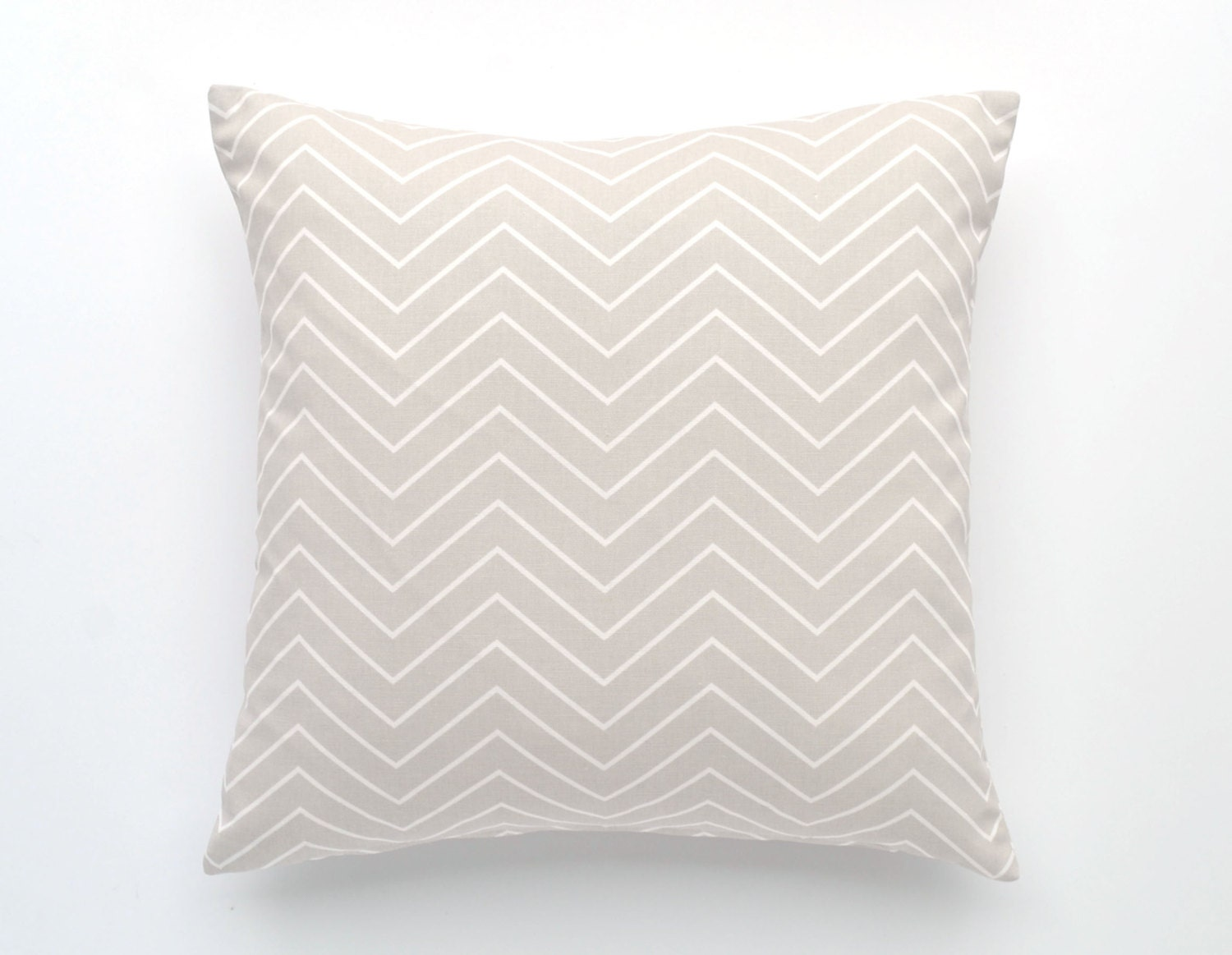 Throw Pillow Case 20 X 20 : Chevron Pillow Cover- 20 x 20 - Light Gray and White Chevron, - Chevron Throw Pillow, Decorative ...