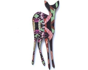 Wooden Deer Brooch - Fawn Brooch - Deer Jewellery - Deer Pin - Animal Brooch - Animal Pin - Lapel Pin - Pin Flair - Fawn Jewellery