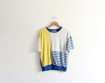 Bright 80s Colorblock Tee
