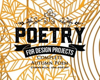 Autumn  Full Poem for Your Craft Projects
