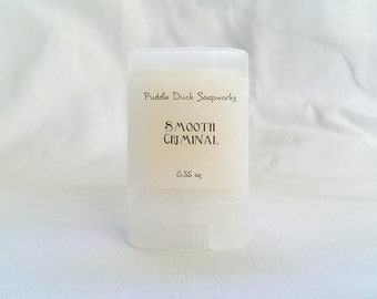 SALE Smooth Criminal Solid Perfume - Natural, long lasting personal fragrance scented with Drakkar Noir and Pink Grapefruit