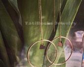 The Way Love Goes Hoop Earrings, Gold Hoop Earrings, Drop Earrings, Heart Earrings