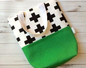 Mini Zipper Tote/Lunch Tote/Canvas Tote Bag/Lunch Bag