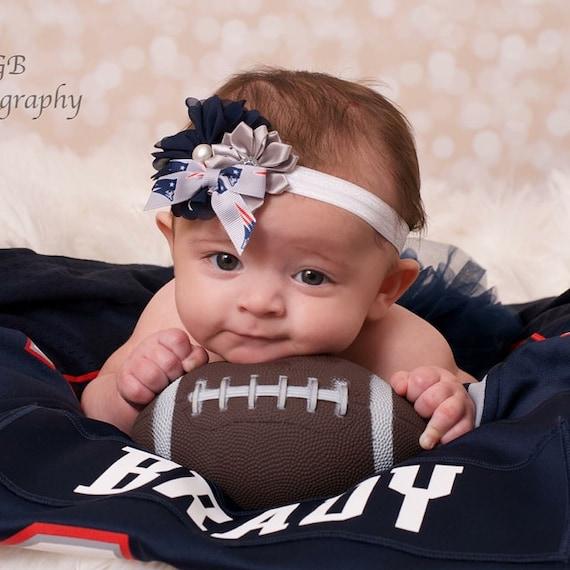 New England Patriots Headband Patriots Baby By Bluestonesky