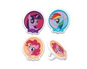 12 My Little Pony Cupcake Rings Toppers - Baking Party Decoration Decor Supplies
