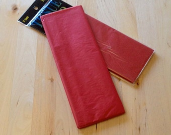 Flame Red Tissue Paper - 10 Sheets - Gift Wrap - Craft and Party Supplies