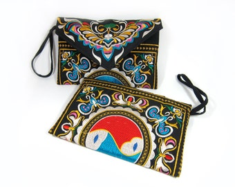 Queen Bee Clutches Bag Embroidered Chinese Hmong Hill tribe Handmade in Thailand (KP1011)