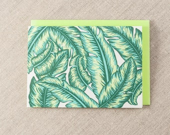 Banan Leaves Letterpress Greeting Card