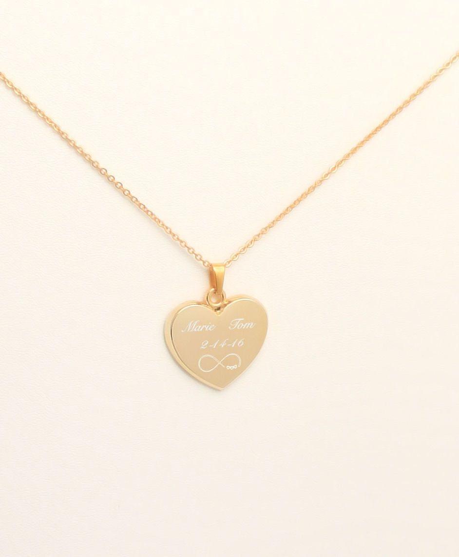 personalized heart pendant gold heart necklace custom. Black Bedroom Furniture Sets. Home Design Ideas