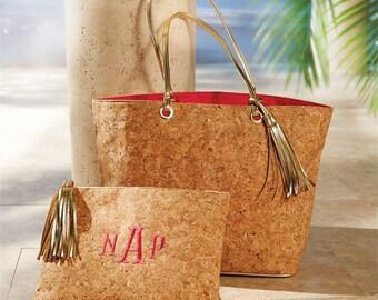 HOT NEW Monogrammed Cork Bags