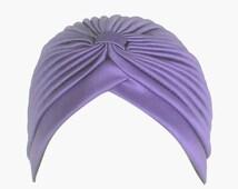 SALE Day Women's Fashion Turban Head Wrap in Purple Violet