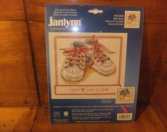 Baby Shoes Counted Cross Stitch Kit