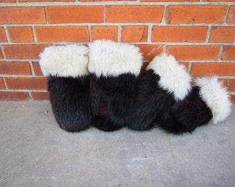 custom beaver fur mittens - men's style (L-XXL , more than 7.5'' length/width)
