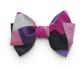The GEO in pink .... silk jacquard  bow tie