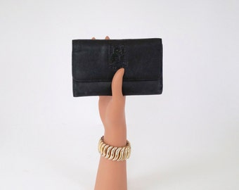 Wallet Black Leather Multi Card and Money Wallet
