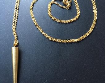 Gold Bronze Spear on Chain
