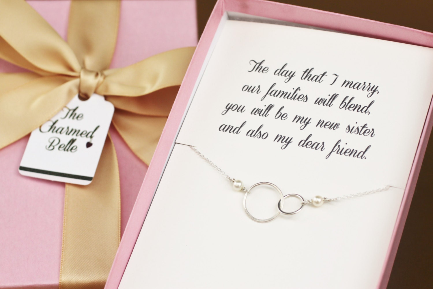 Sister Wedding Gifts: Sister In Law New Sister Wedding Necklace Wedding Gift
