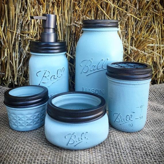 Bathroom Accessories-Mason Jar Bathroom Set 5pc-Mason Jar