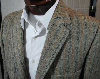 Gray Harris Tweed Chalk Stripe Blazer