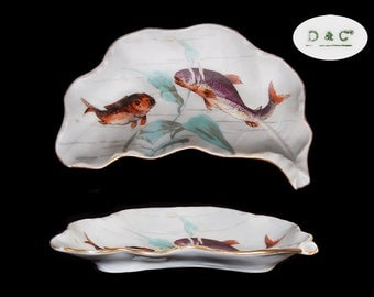 Antique Limoges Fish Bone Dish - D & Co.