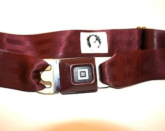 Burgundy GM Buckle-Up Belt
