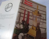 Vintage Hoover Blender how to use and recipe book