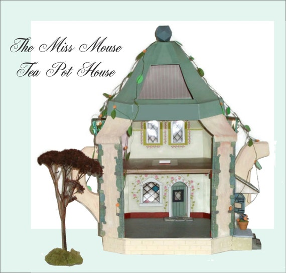 Doll House Mouse Dollhouse Miniature In 1 24 Half