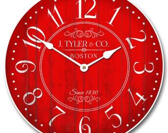 Harbor Red Clock