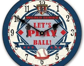 Baseball World Wall Clock