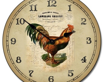 French Rooster Wall Clock