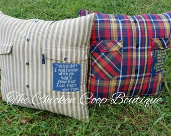 Memory Pillow - Memory Bear - bereavement - grievance - keepsake pillow made from a loved ones clothing.