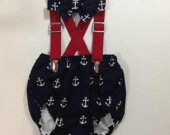 NAUTICAL CAKE SMASH outfit for boys, boys anchor cake smash birthday, boys clothing