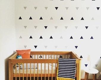 Vinyl Wall Art Geometric - Geometric Wall Art Decals - Vinyl Triangle Wall Art  0036