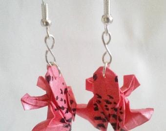 Origami Frog earrings