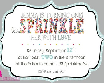 Sprinkle With Love Birthday Invite - Custom Printable - from the NORTH