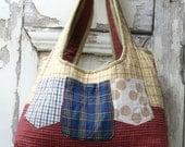 Twelve Pocket Tote,Upcycled Clothing,Large Overnight Bag,Reuse Repurpose