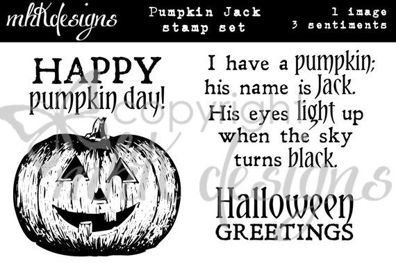 Pumpkin Jack Digital Stamp Set